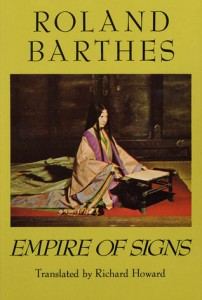 Empire of Signs Roland Barthes